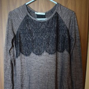 Maurices Grey w/ Black lace w/ see through panel M